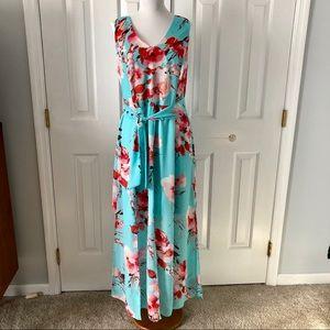 Cato Baby Blue Sleeveless Maxi Dress